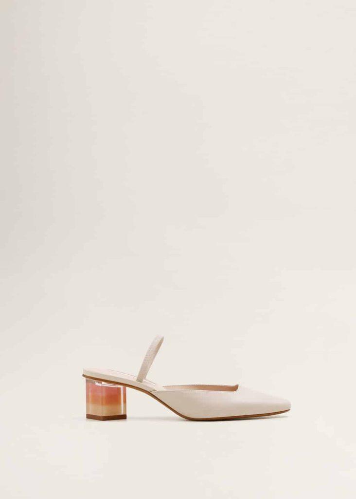mango geometrik topuklu deri ayakkabi