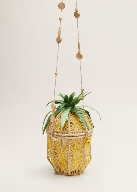 mango ananas sekilli hasir canta