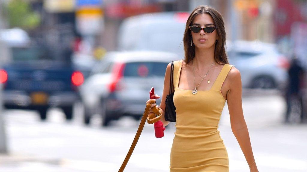 emily sarı elbise ile