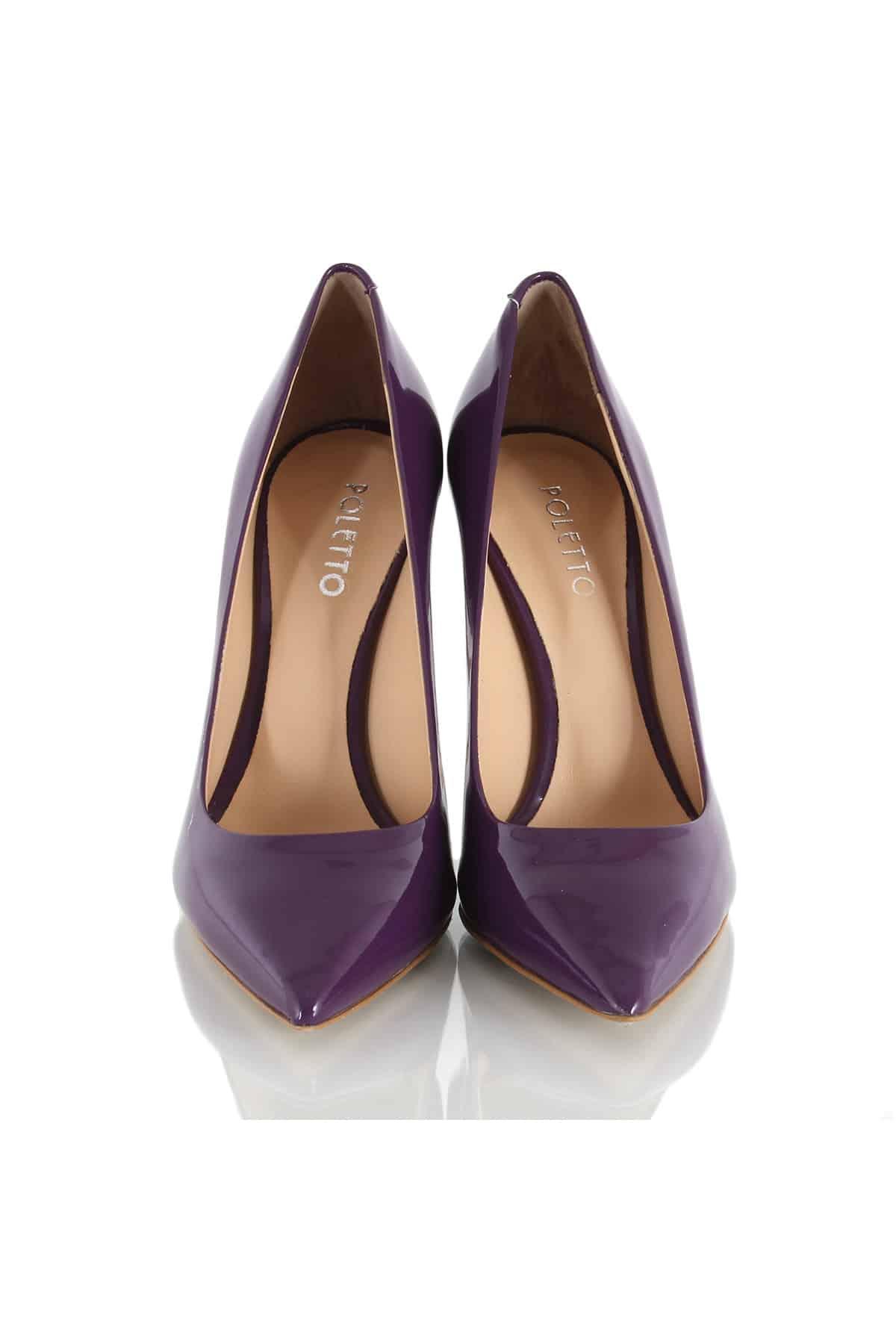 poletto, deri mor ayakkabı