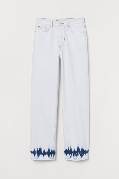 h&m yüksek bel batik jean
