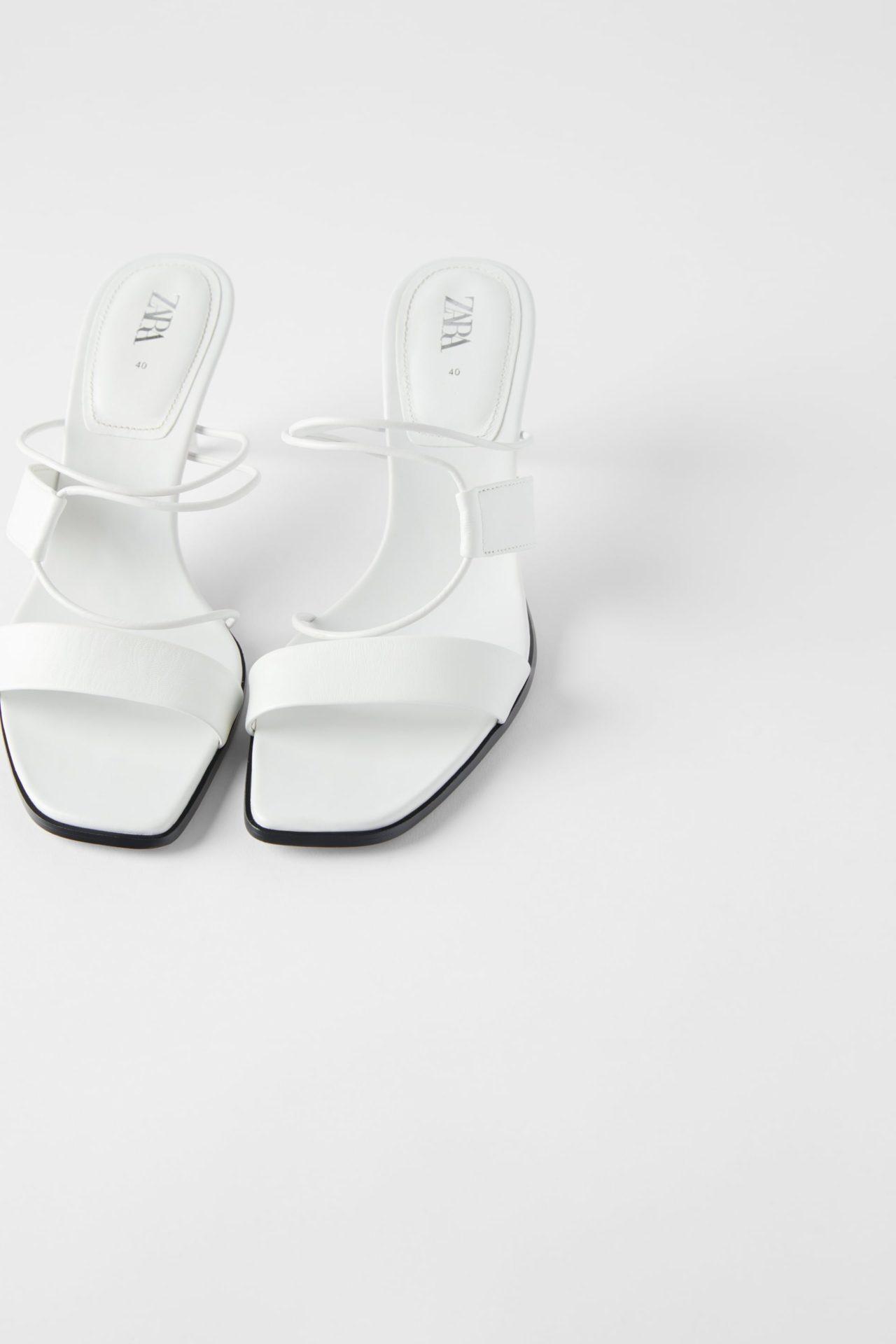 zara beyaz sandalet