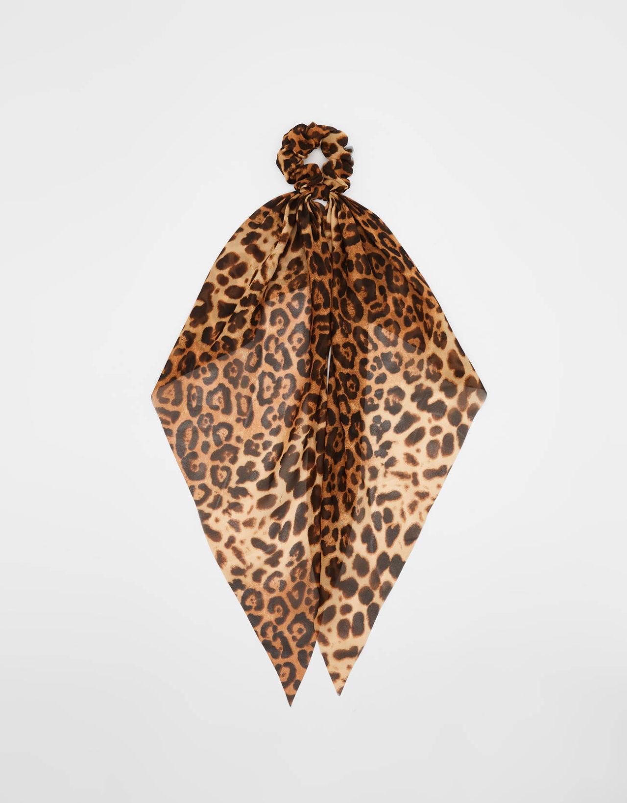 bershka, leopar saç tokası